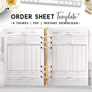 order sheet template - classic