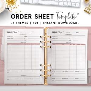 order sheet template - soft
