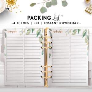 packing list - botanical