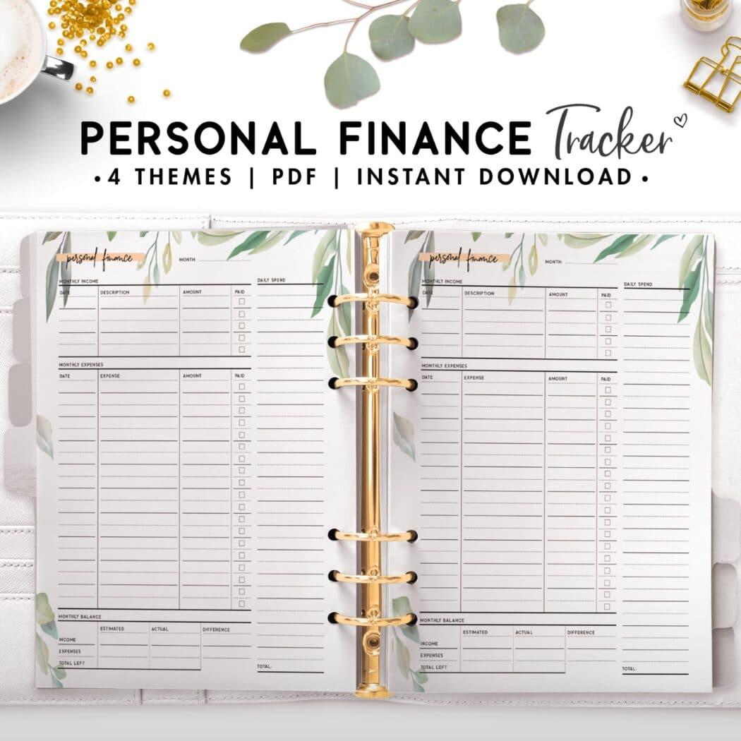 personal finance tracker - botanical
