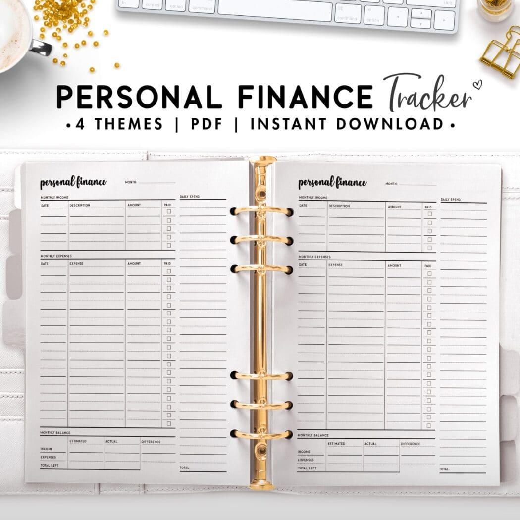 personal finance tracker - cursive