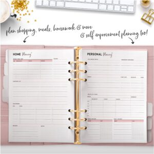 plan shopping, meals, housework and more and self improvement planning too