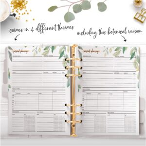 botanical personal planning page