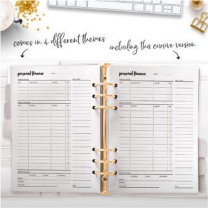 cursive personal finance planner