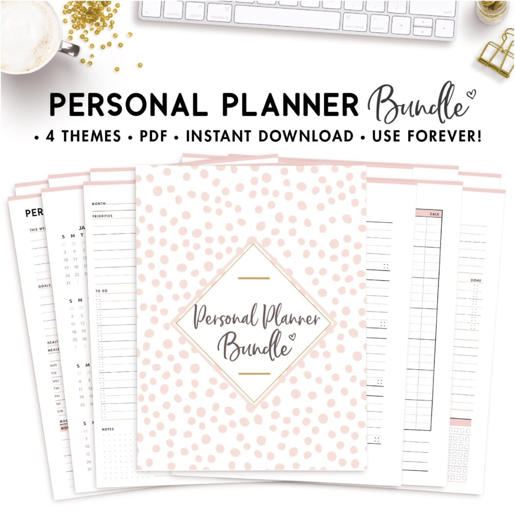 personal planner bundle
