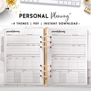 personal planning - cursive