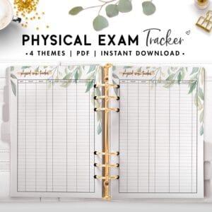 physical exam tracker - botanical