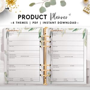 product planner - botanical