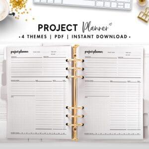 project planner - cursive