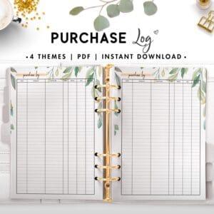 purchase log - botanical