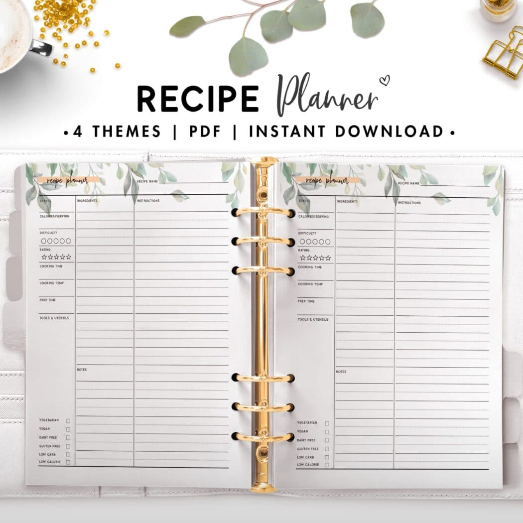 recipe planner - botanical