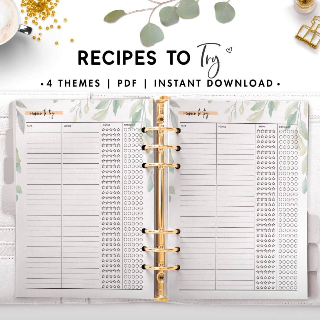 recipes to try - botanical