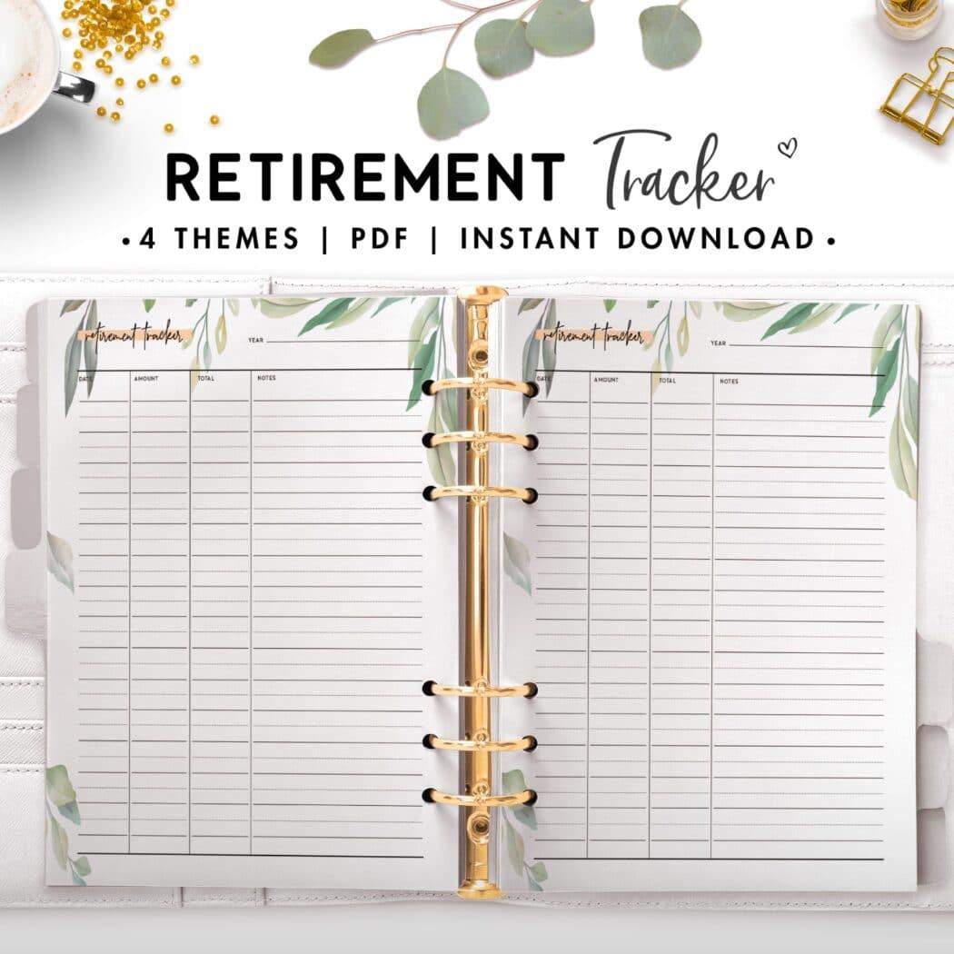 retirement tracker - botanical