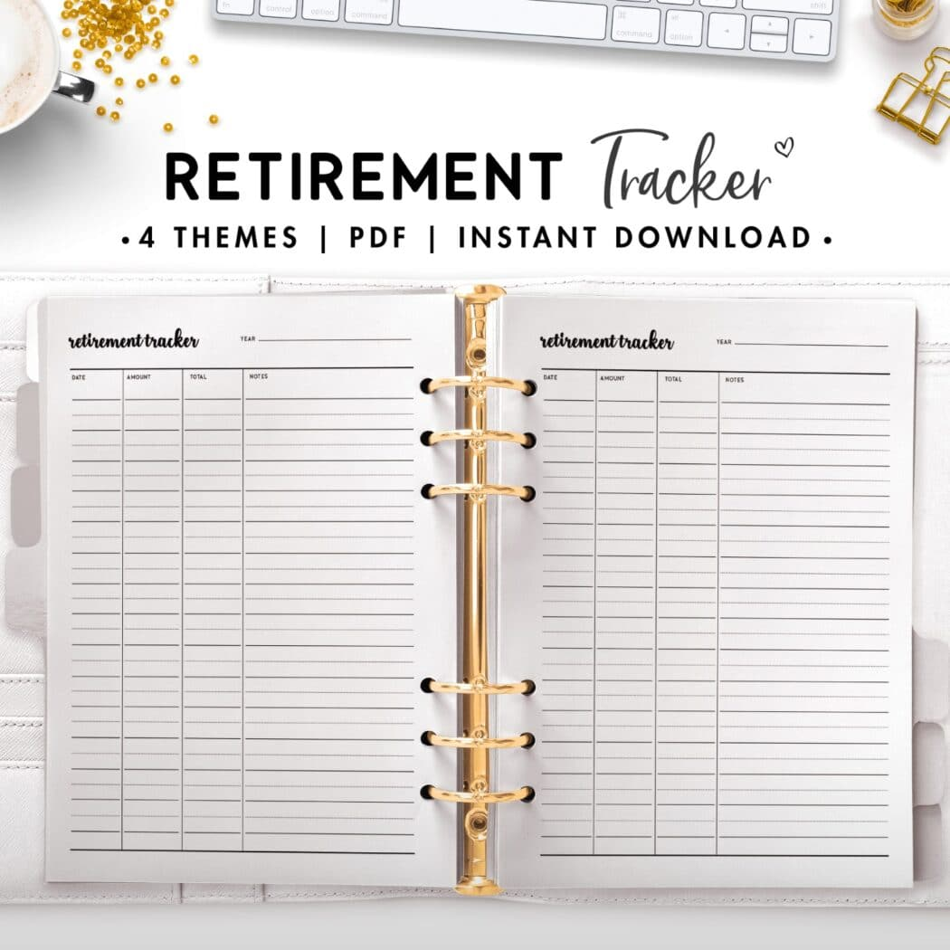 retirement tracker - cursive