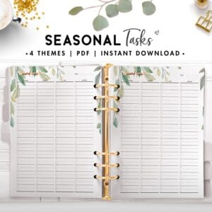 seasonal tasks - botanical