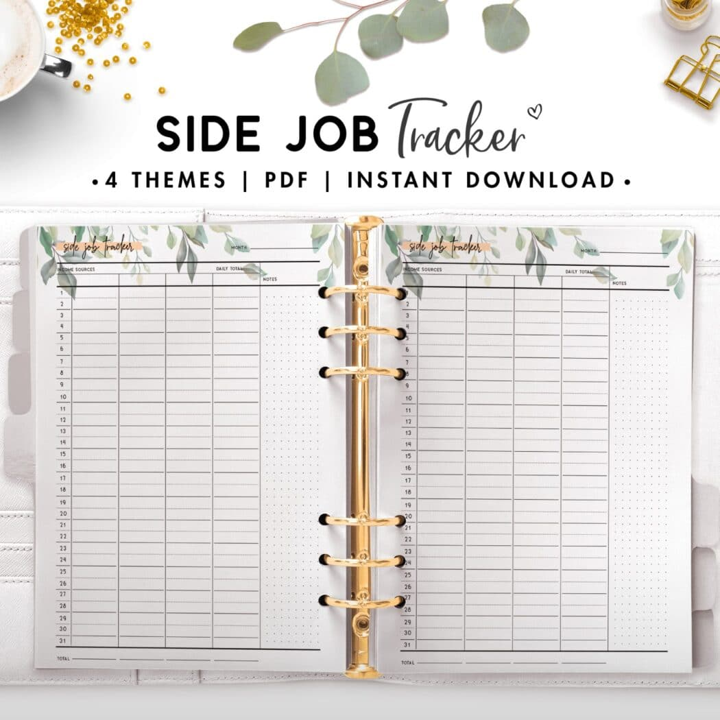 side job tracker - botanical