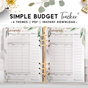 simple budget tracker - botanical