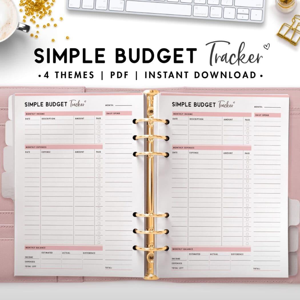 simple budget tracker - budget