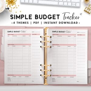 simple budget tracker - budget