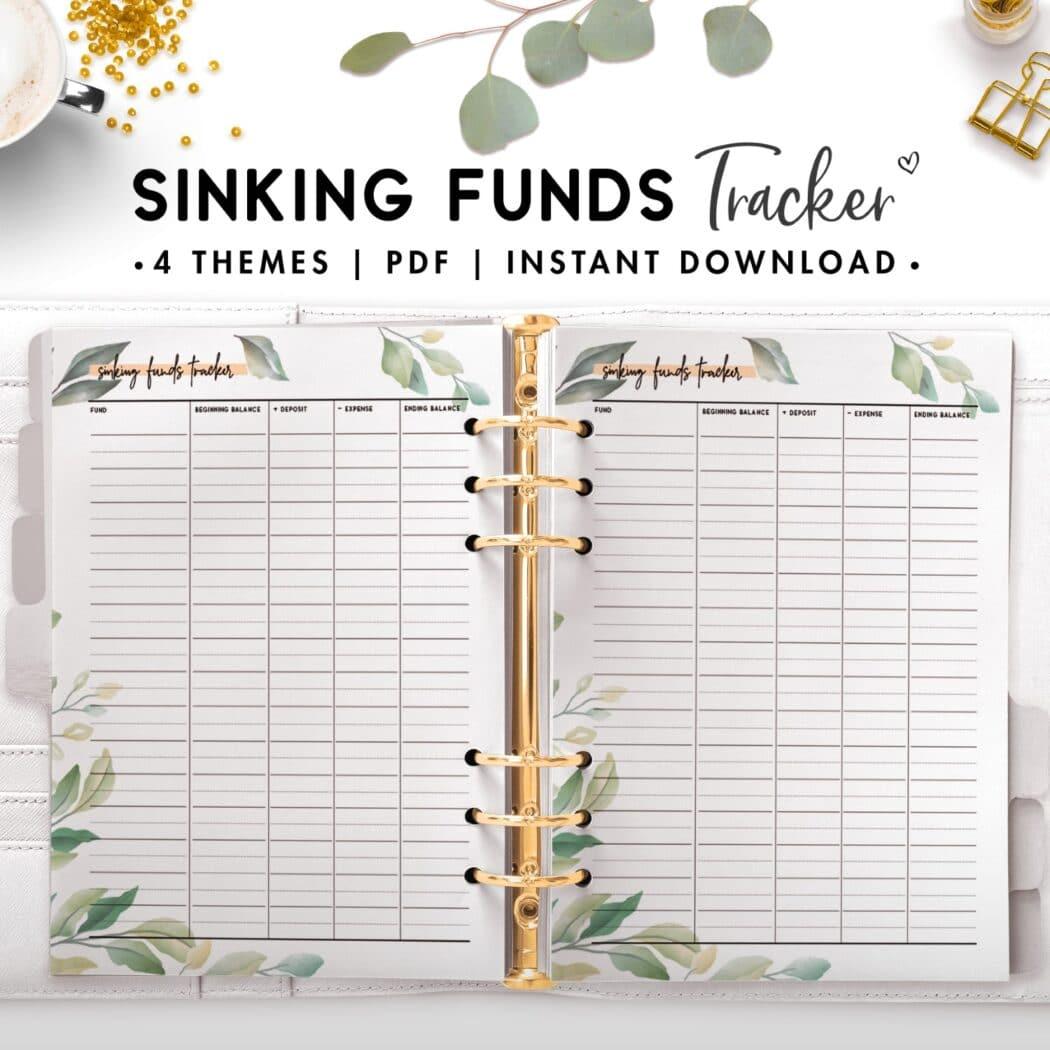 sinking funds tracker - botanical