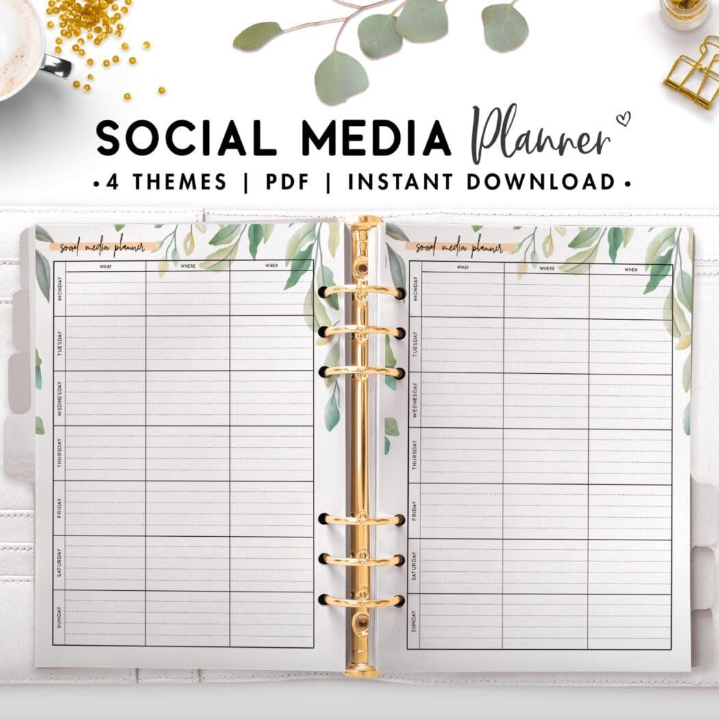 social media planner - botanical