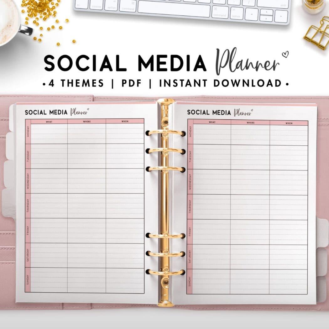 social media planner - soft