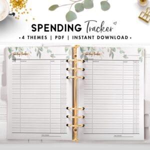 spending tracker - botanical