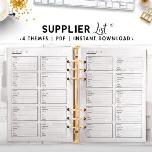 supplier list - classic