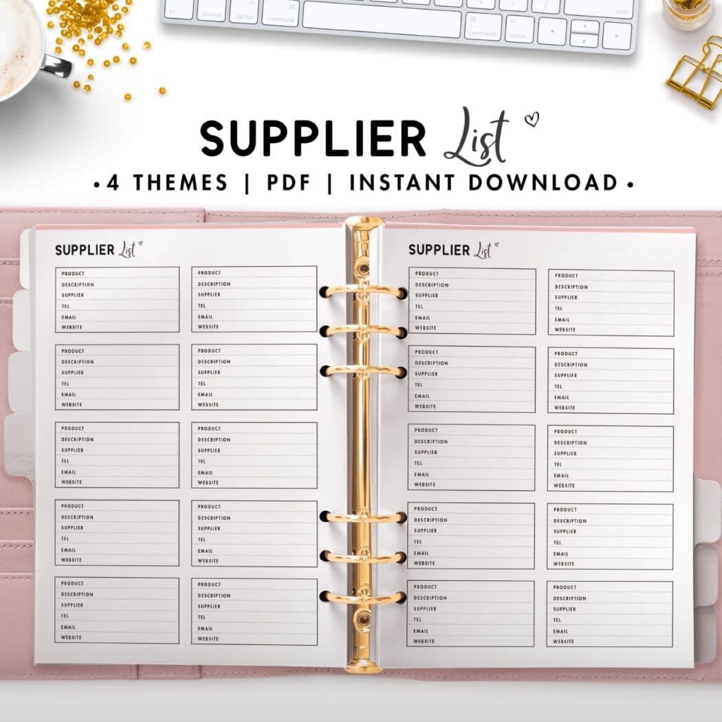 supplier list - soft