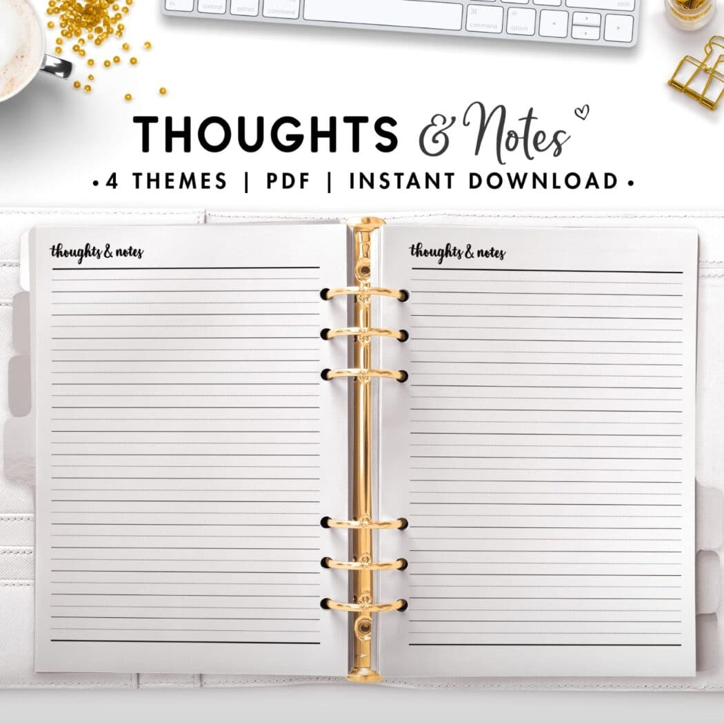 thoughts and notes - cursive