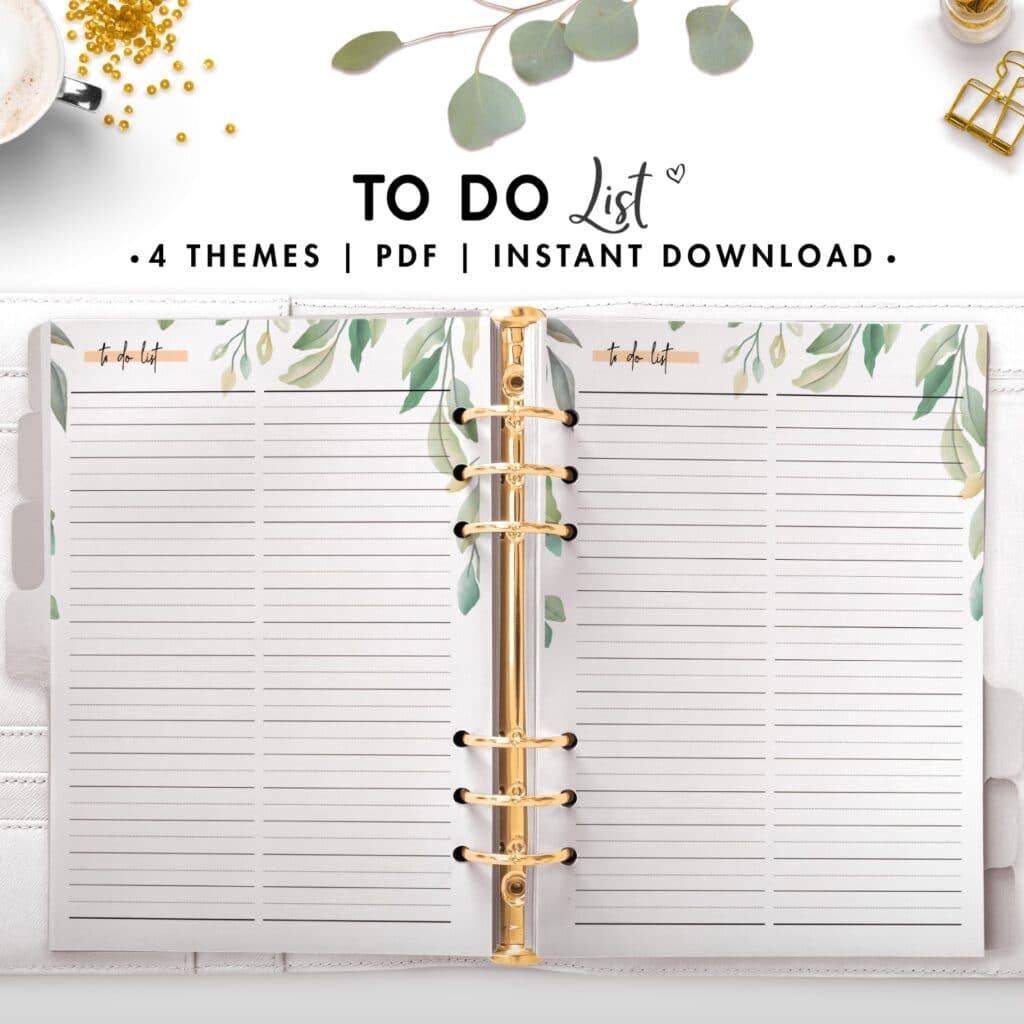 to do list - botanical