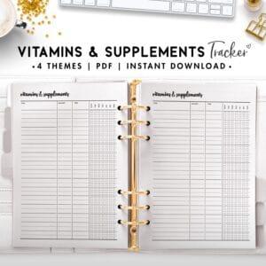 vitamins and supplements - cursive