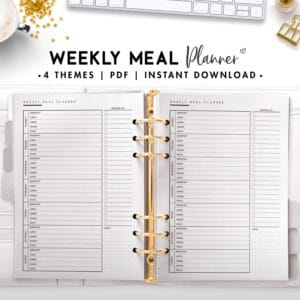 weekly meal planner - classic