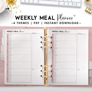 weekly meal planner - soft
