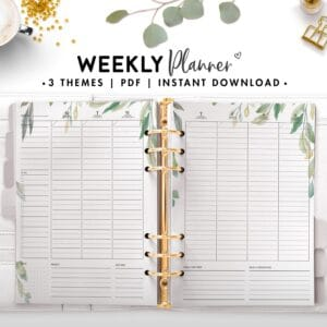 weekly planner - botanical