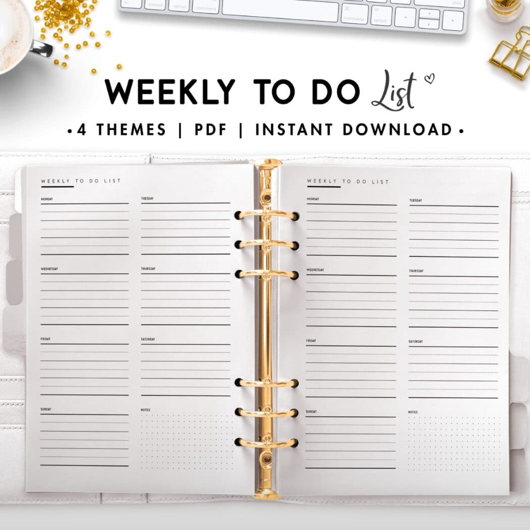 weekly to do list - classic