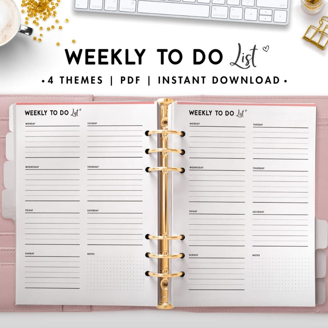 weekly to do list - soft