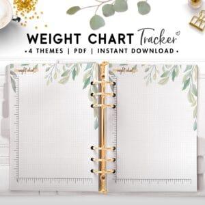 weight chart tracker - botanical