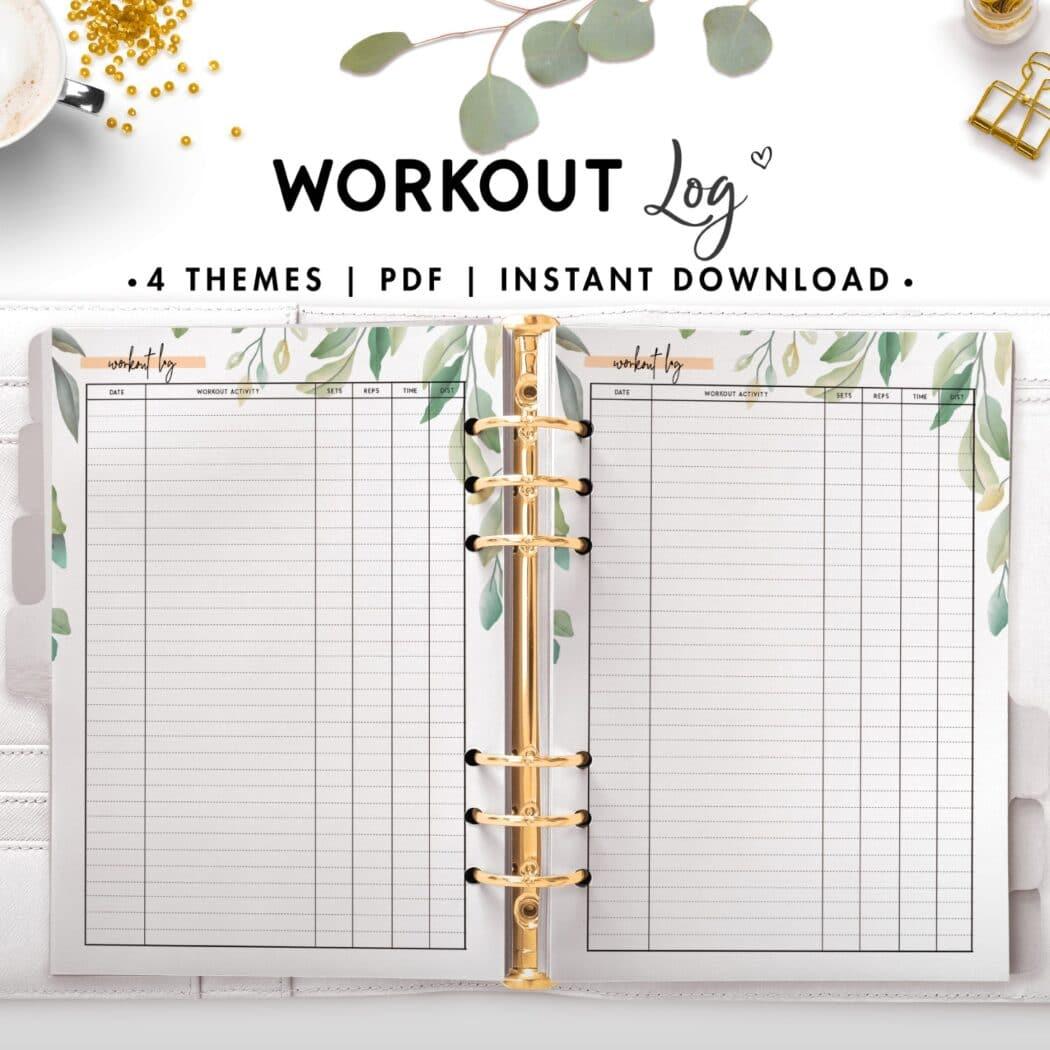 workout log - botanical