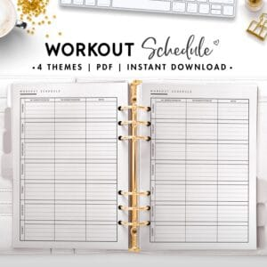 workout schedule - classic