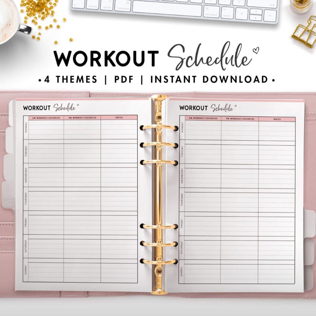 workout schedule - soft
