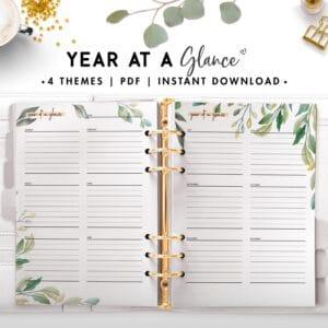 year at a glance - botanical