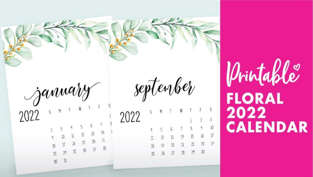 2022 calendar floral