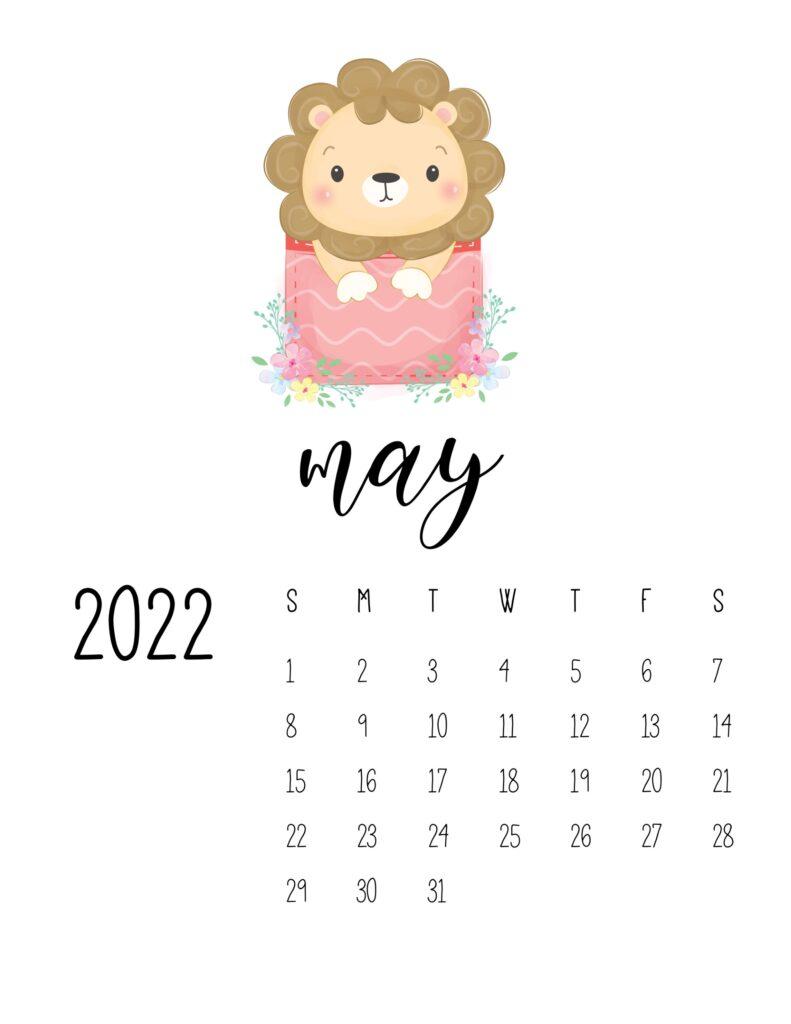 2022 calendar for preschooler - may