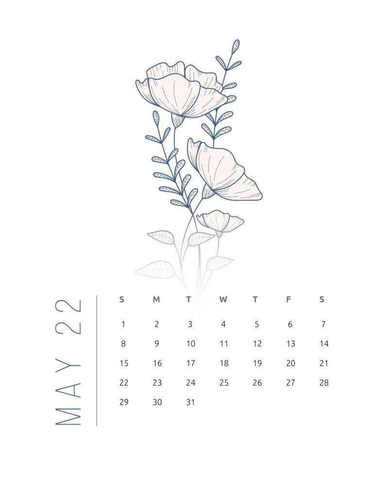 2022 calendar printable free - may