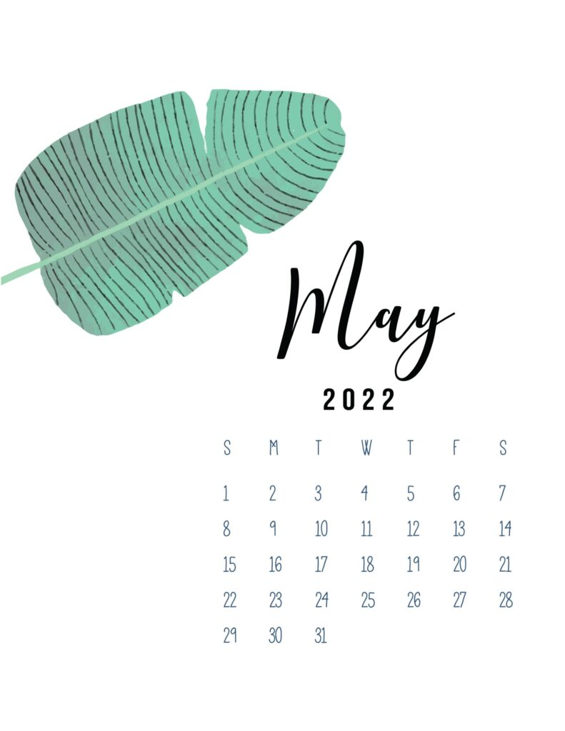 2022 calendar printable pdf - may