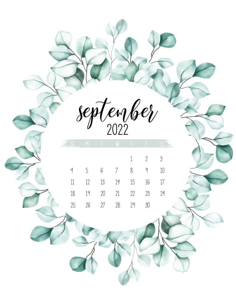 2022 calendar printable - september