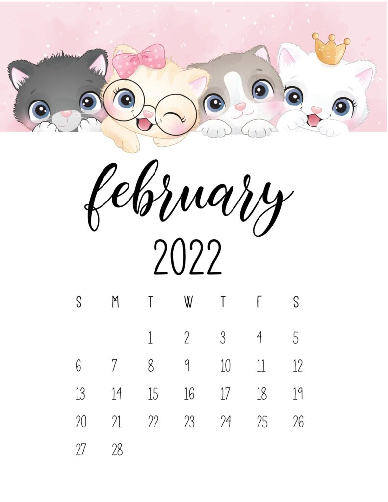 2022 cat calendar - february