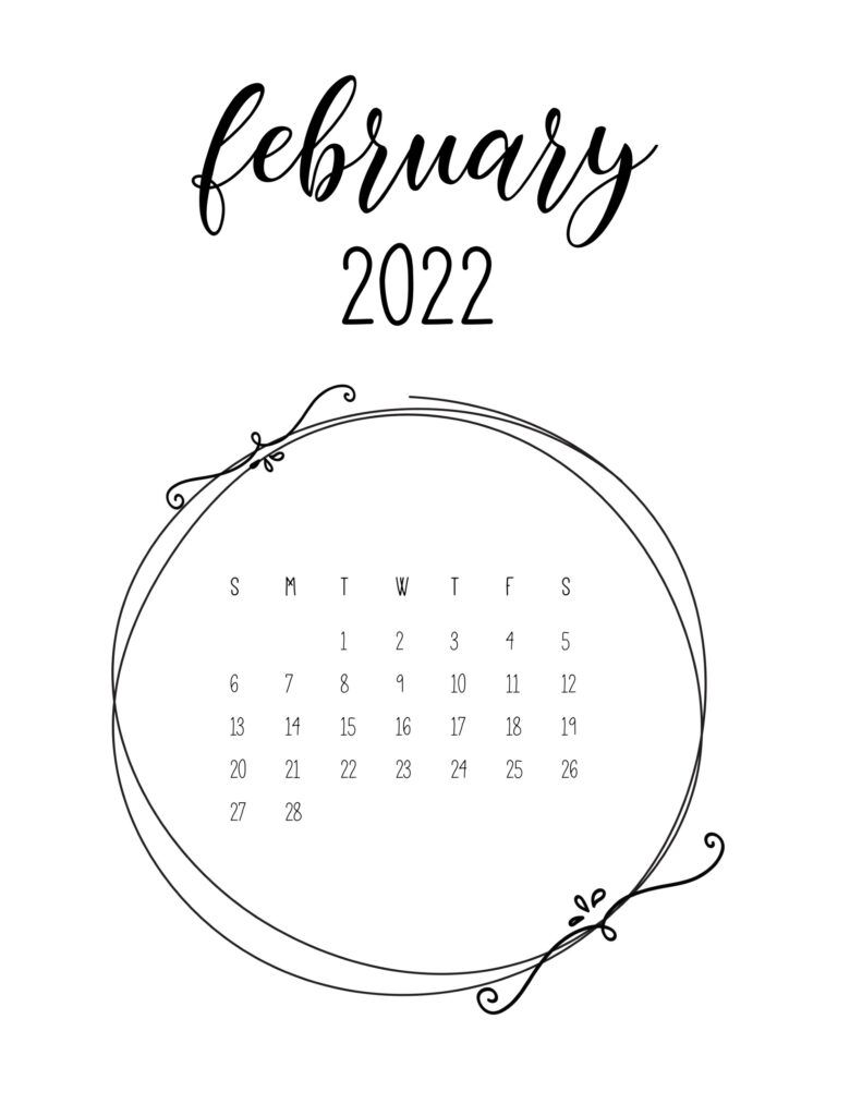 2022 free calendar - february