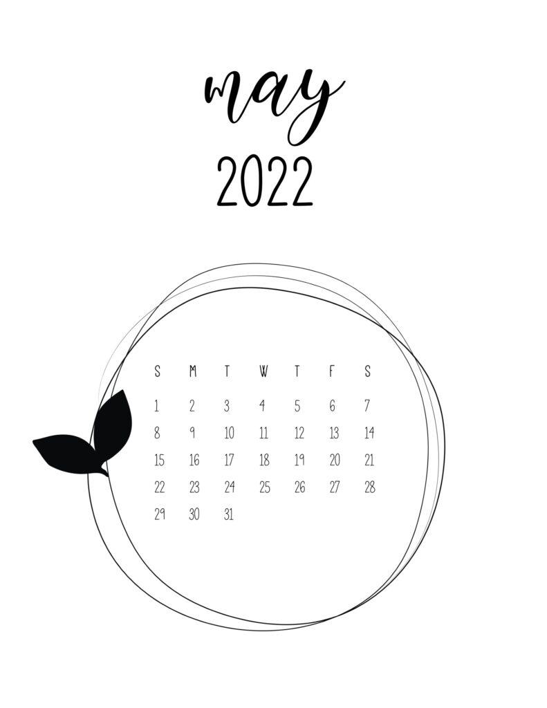 2022 free calendar - may